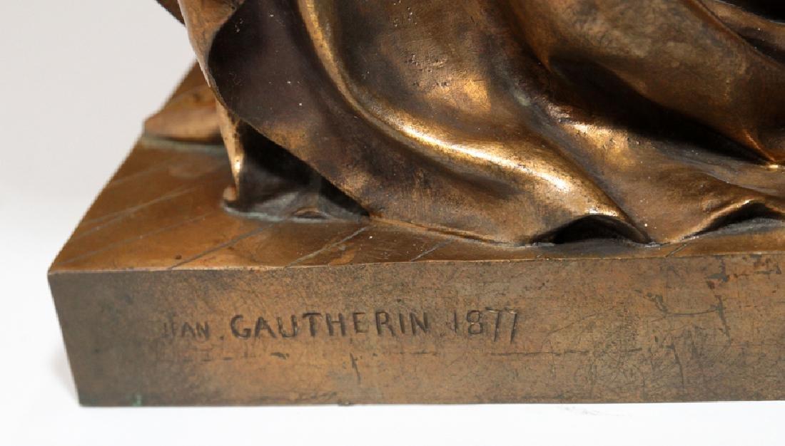 JEAN GAUTHERIN GOLD D'ORE BRONZE SCULPTURE, 1877 - 8