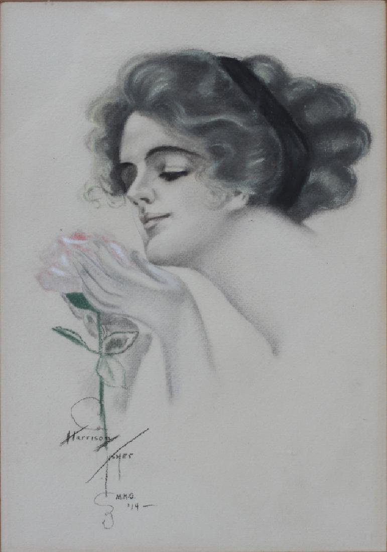 AFTER HARRISON FISHER MIXED MEDIA DRAWING, 1914 - 2