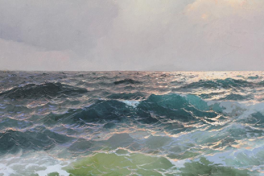 ALEX DZIGURSKI OIL ON CANVAS, 1951 SEASCAPE - 2