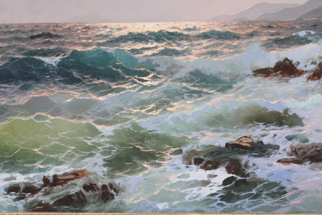 ALEX DZIGURSKI OIL ON CANVAS, 1951 SEASCAPE - 3