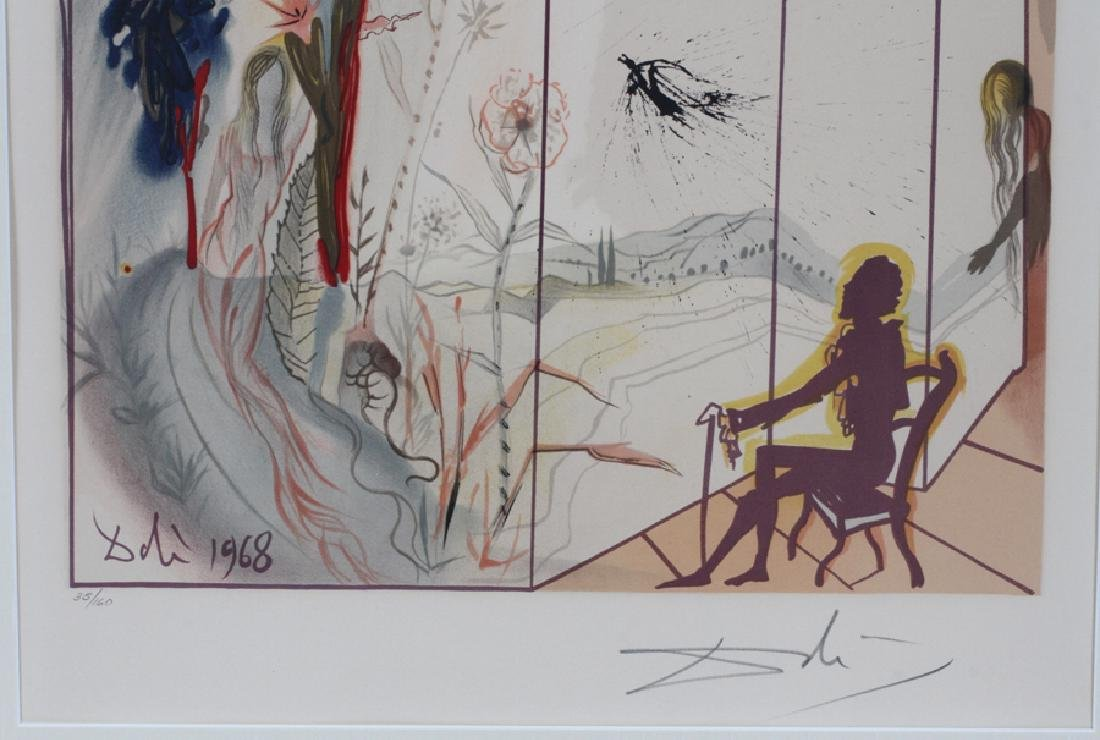 "SIGNED ""DALI"" LITHOGRAPH ON PAPER - 3"