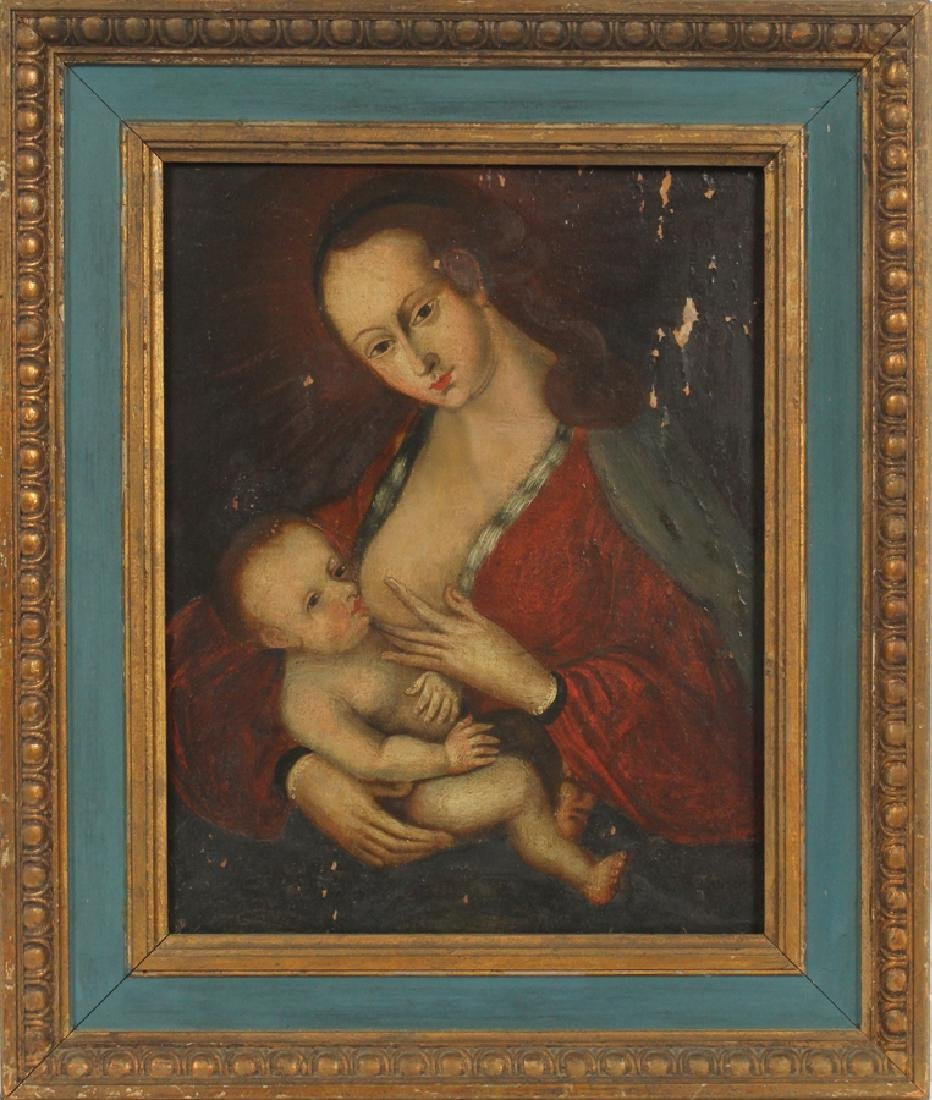 OLD MASTER STYLE OIL ON WOOD PANEL