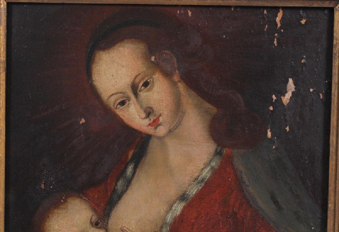 OLD MASTER STYLE OIL ON WOOD PANEL - 2