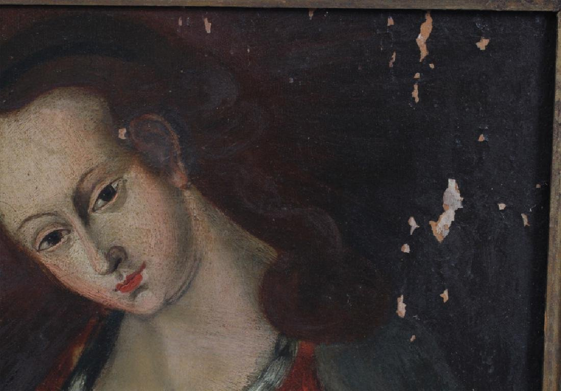 OLD MASTER STYLE OIL ON WOOD PANEL - 4