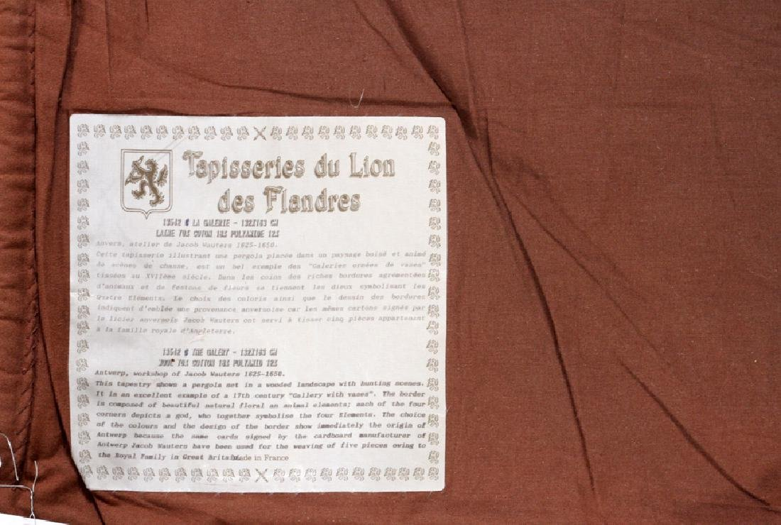 TAPISSERIES DU LION DES FLANDRES LOOMED TAPESTRY - 5