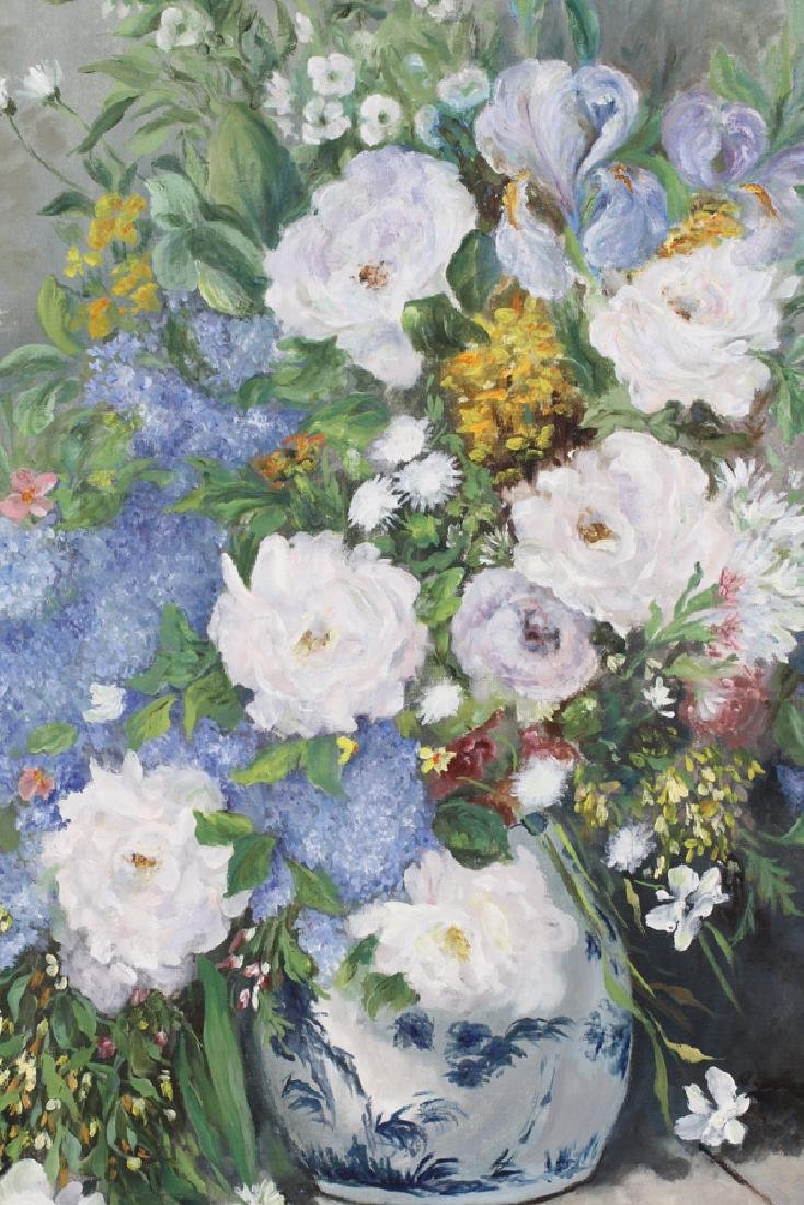 """OIL ON CANVAS, H 39 1/2"""", W 31"""", FLORAL - 2"""