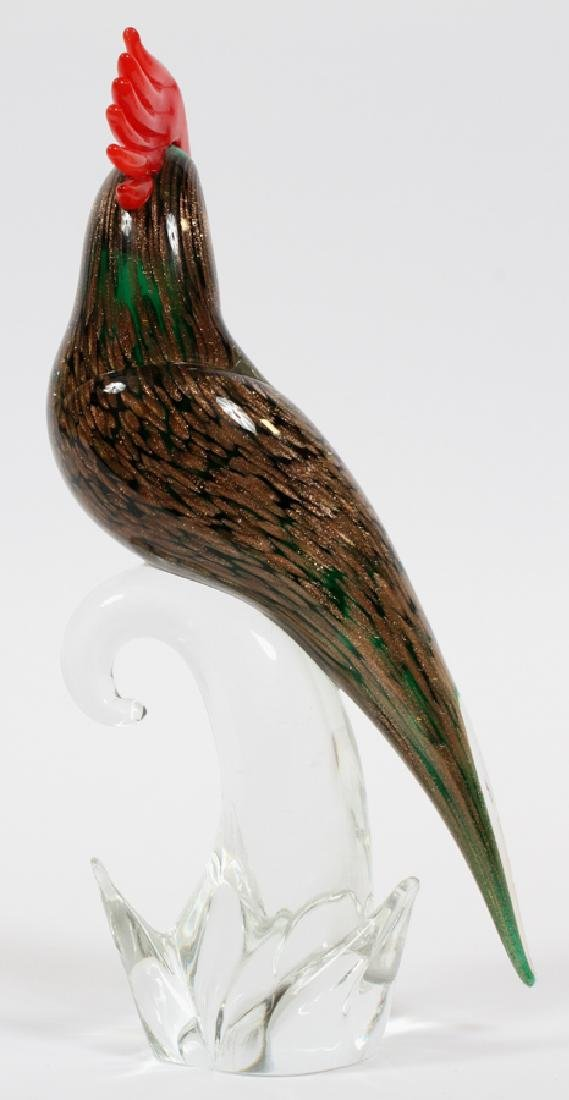 """MURANO GLASS PARROT ON A PERCH, H 11 1/2"""" - 2"""