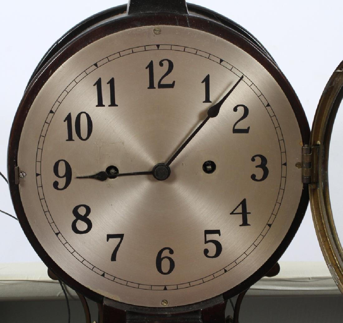 S. WILLARD'S PATENT BANJO MAHOGANY CLOCK - 5