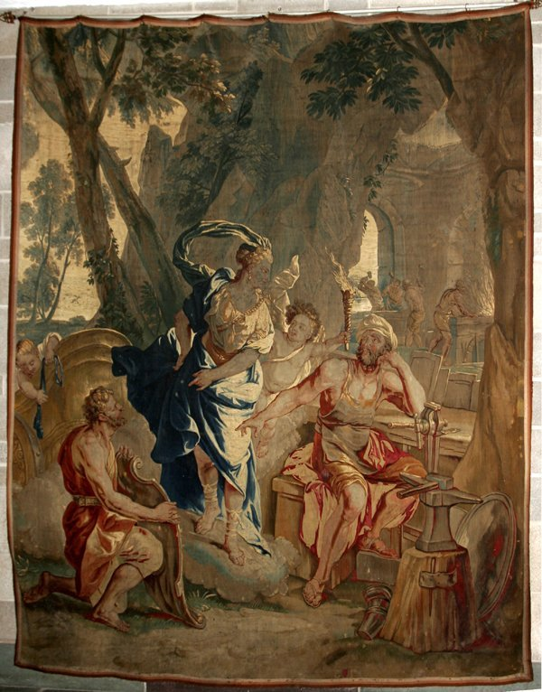 """051014: BRUSSELS 18TH C. TAPESTRY 9'5""""x7'"""