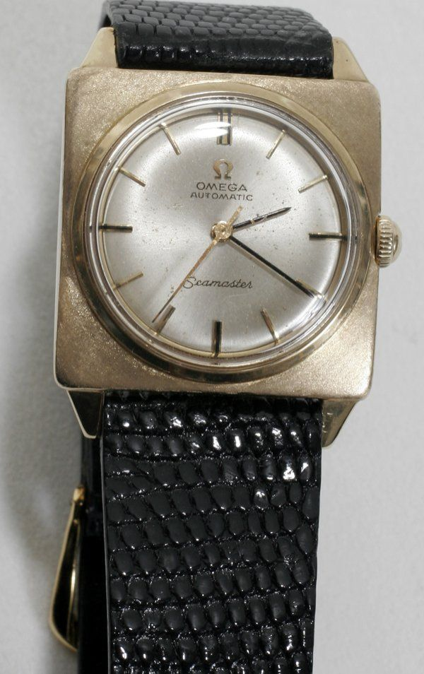 051282: OMEGA 'SEAMASTER' 14K GOLD WRIST WATCH