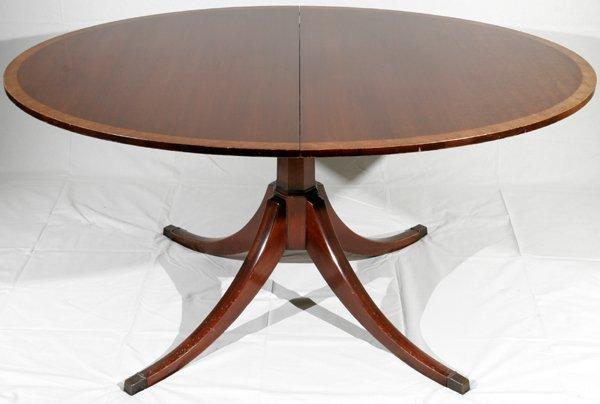 052023: ENGLISH MAHOGANY DINING TABLE, C.1920