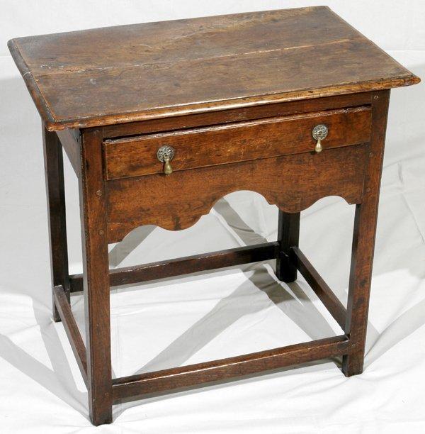 052024: ENGLISH WILLIAM & MARY ELM WOOD TABLE 18TH C.