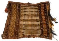 HAND WOVEN TRIBAL SADDLE BAG CIRCA 1900