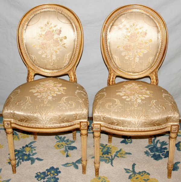 063014: LOUIS XVI STYLE SIDE CHAIRS, C.1920, FOUR