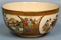 063263: JAPANESE SATSUMA EARTHENWARE BOWL, C.1900