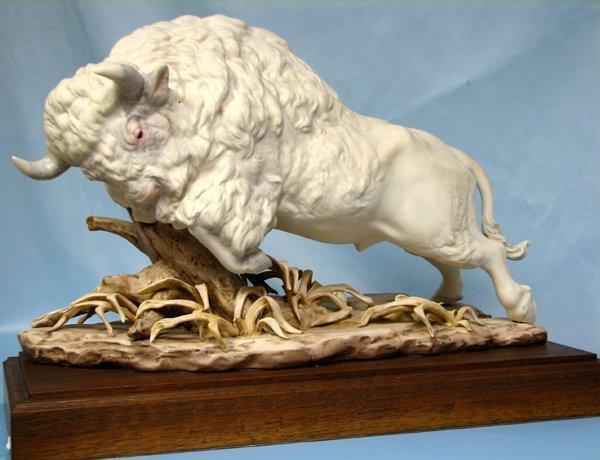 063422: CYBIS BISQUE FIGURE 'WHITE BUFFALO' 1975