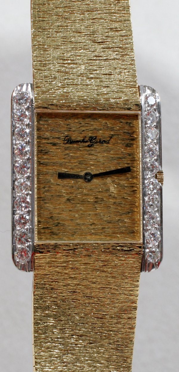 060013: BOUCHE GIRARD, GOLD & DIAMOND WRIST WATCH
