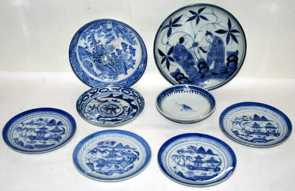060111: CHINESE CANTON PORCELAIN DISHES & BOWLS