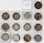 060322: US MORGAN/PEACE SILVER $1 COINS 1896-1928