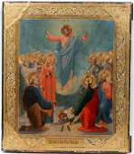 061284 RUSSIAN WOOD PANEL ICON THE RESURRECTION