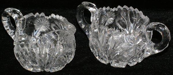 061320: LIBBEY CUT GLASS CREAMER & SUGAR BOWL SET