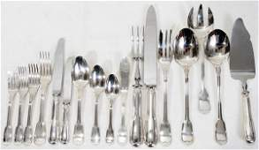 062077 FRENCH CHRISTOFLE CHINON FLATWARE SET  CHEST