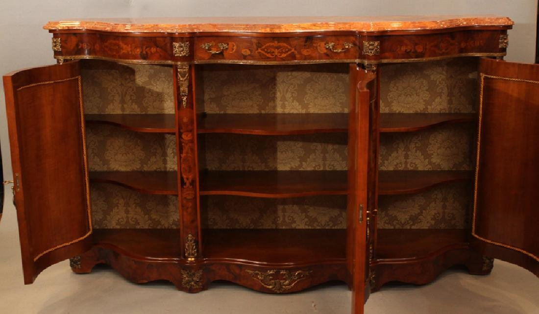HYDE PARK MARQUETRY INLAY CONSOLE CABINET - 3