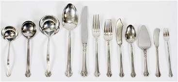 TOWLE SILVER PLUMES STERLING SILVER FLATWARE