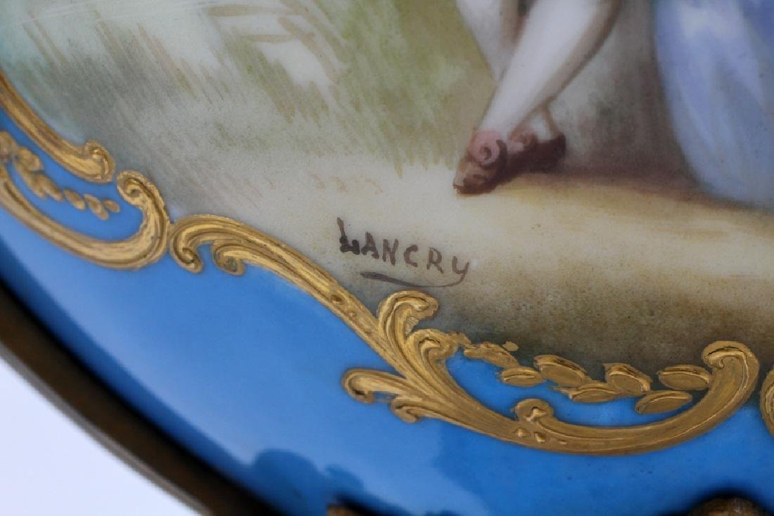 FRENCH SEVRES PORCELAIN AND BRONZE URNS 19TH.C. - 5