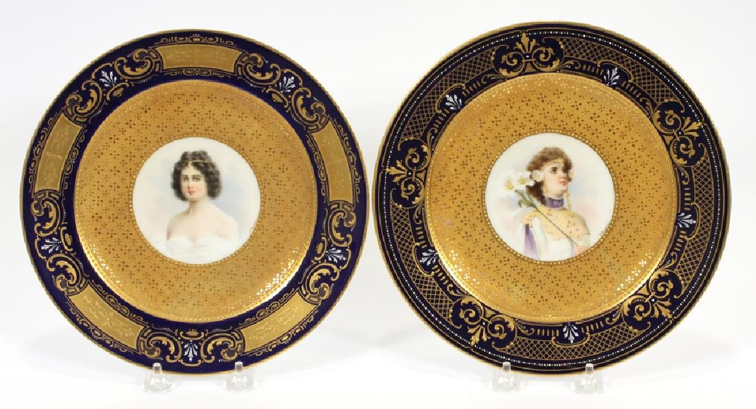 ROYAL VIENNA PORCELAIN PORTRAIT PLATES
