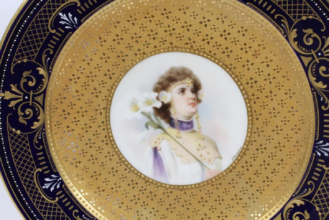 ROYAL VIENNA PORCELAIN PORTRAIT PLATES - 4