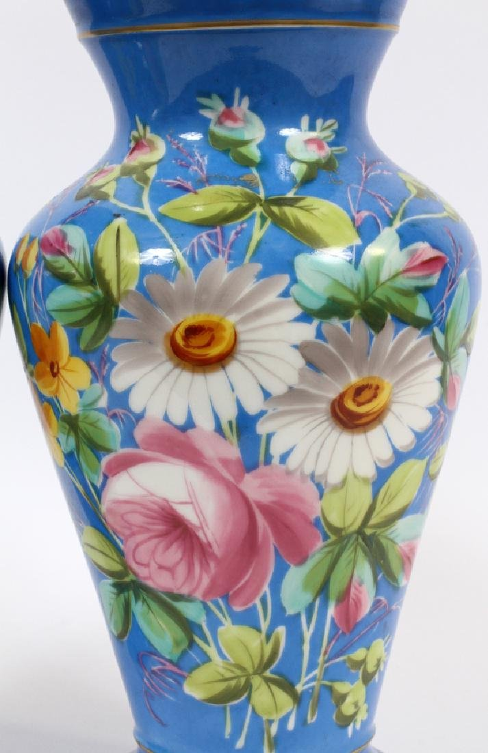 FRENCH PORCELAIN URNS, 19TH C., PAIR - 2