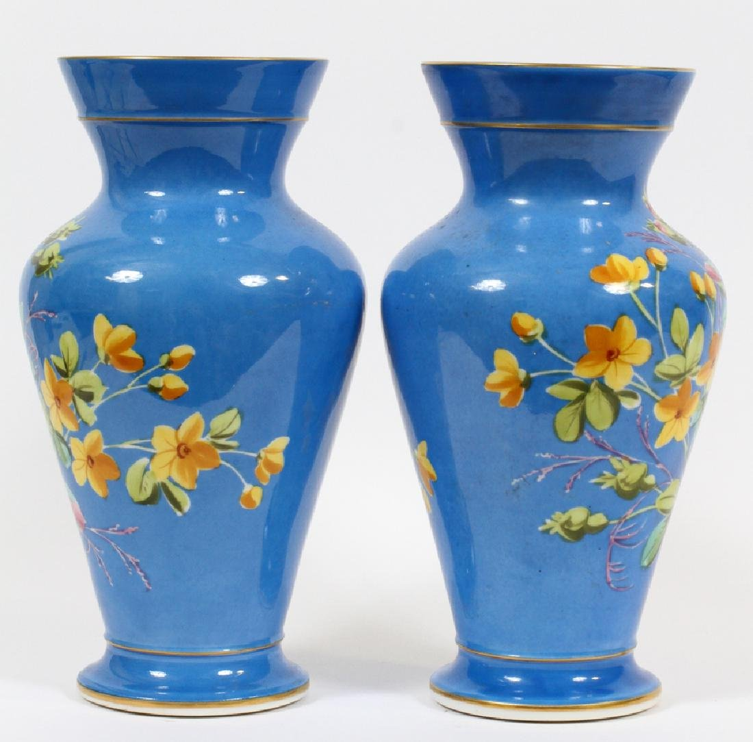 FRENCH PORCELAIN URNS, 19TH C., PAIR - 3
