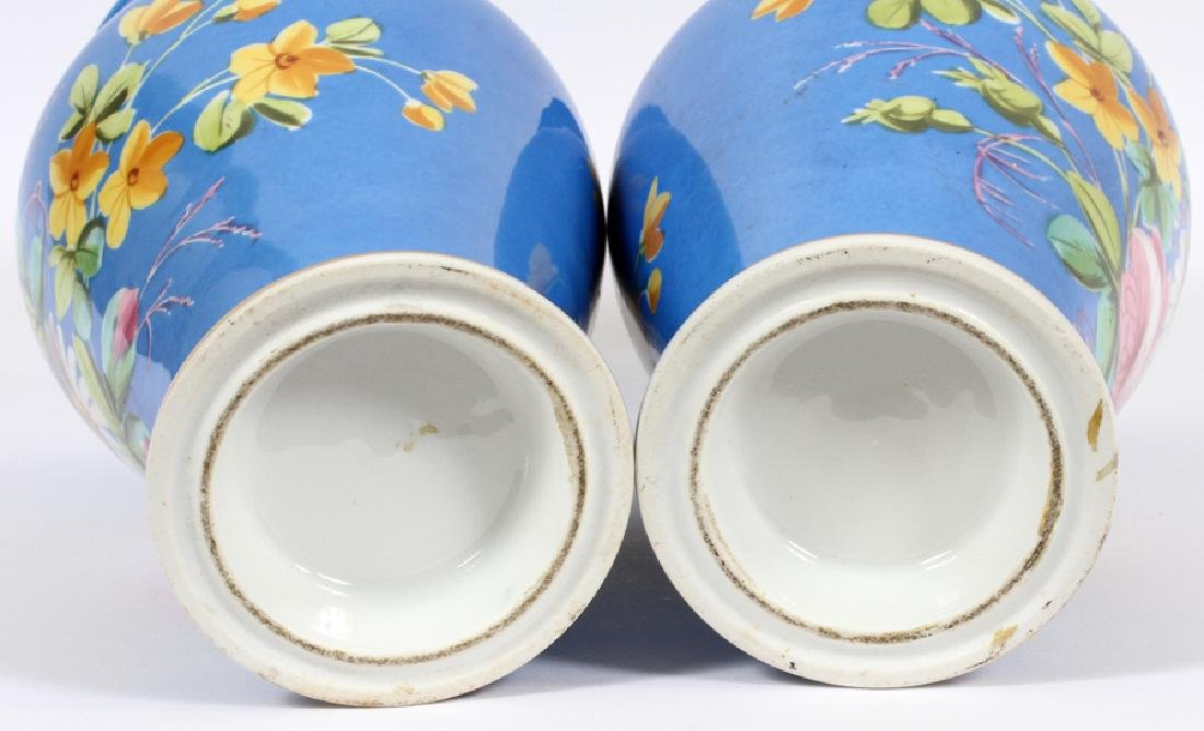 FRENCH PORCELAIN URNS, 19TH C., PAIR - 5