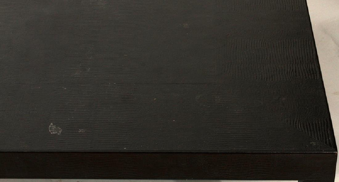 """LEATHER TEXTURED TABLE, H 16"""", W 60"""", D 48"""" - 2"""