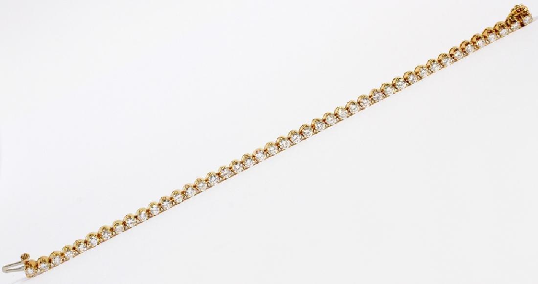 18K YELLOW GOLD AND DIAMOND LINK TENNIS BRACELET