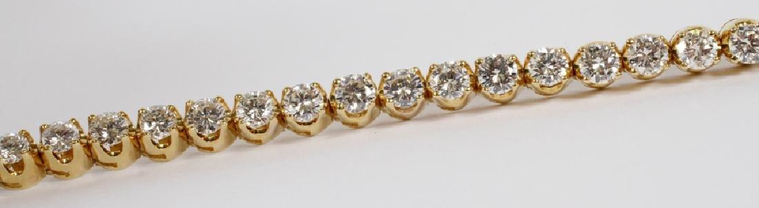 18K YELLOW GOLD AND DIAMOND LINK TENNIS BRACELET - 2