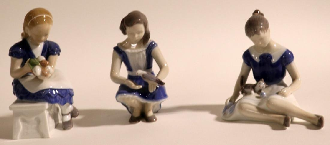 BING AND GRONDAHL PORCELAIN FIGURES, THREE