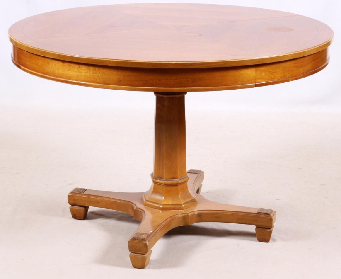 THOMASVILLE PROVINCIAL WALNUT DINING TABLE & CHAIRS - 2