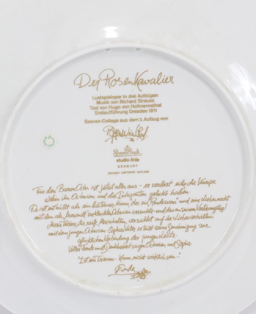 "ROSENTHAL PLATES,  (THREE),  DIA 12"" - 7"