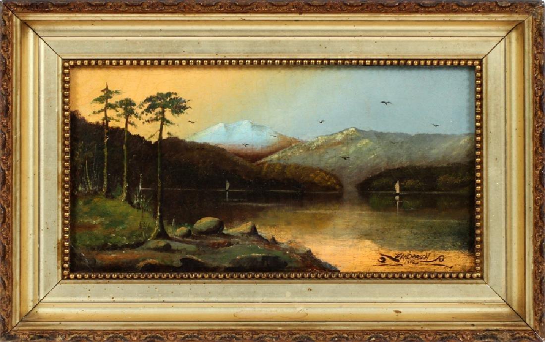 F. ANDERSON OIL ON ARTIST BOARD, 1902