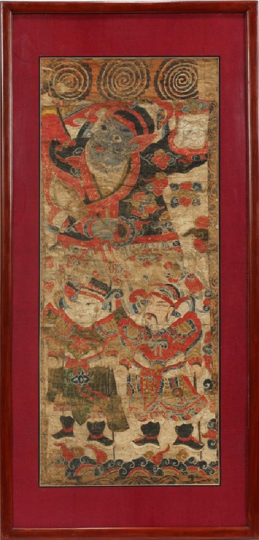 HANOI EMPEROR ASIAN HAND PAINTED FIGURAL SCENE