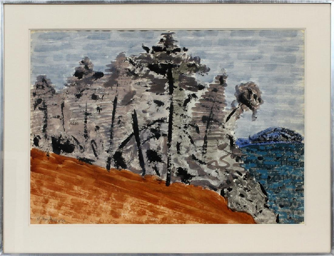 MILTON AVERY WATERCOLOR ON PAPER, 1956