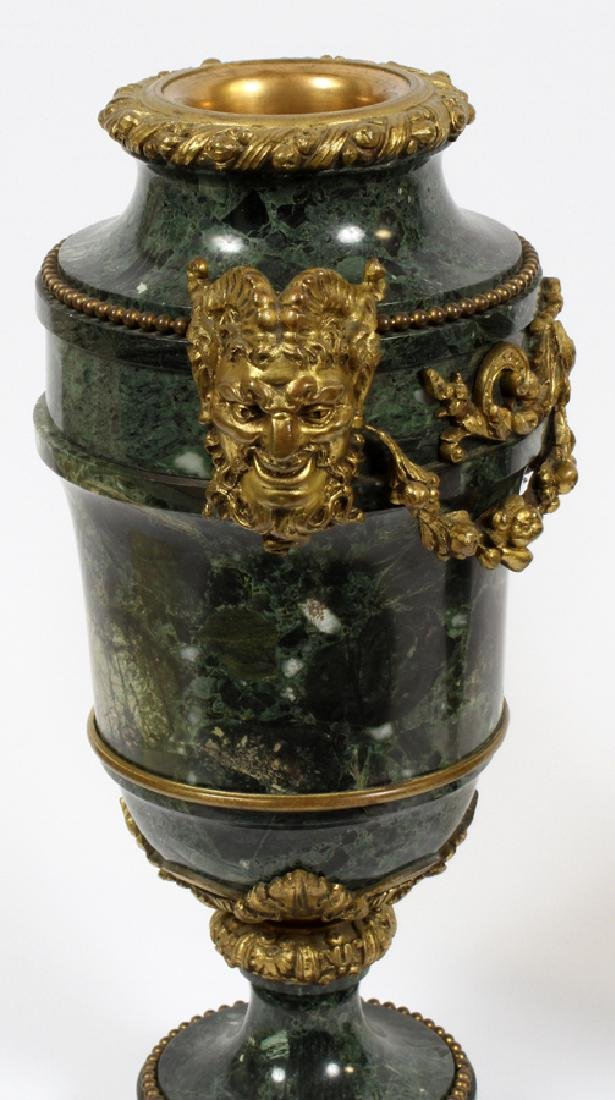 FRENCH MARBLE AND BRONZE URNS - 3