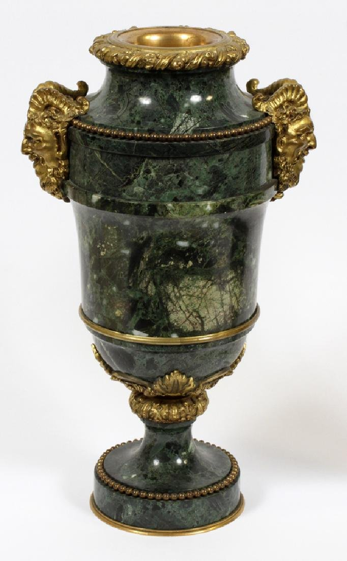 FRENCH MARBLE AND BRONZE URNS - 4