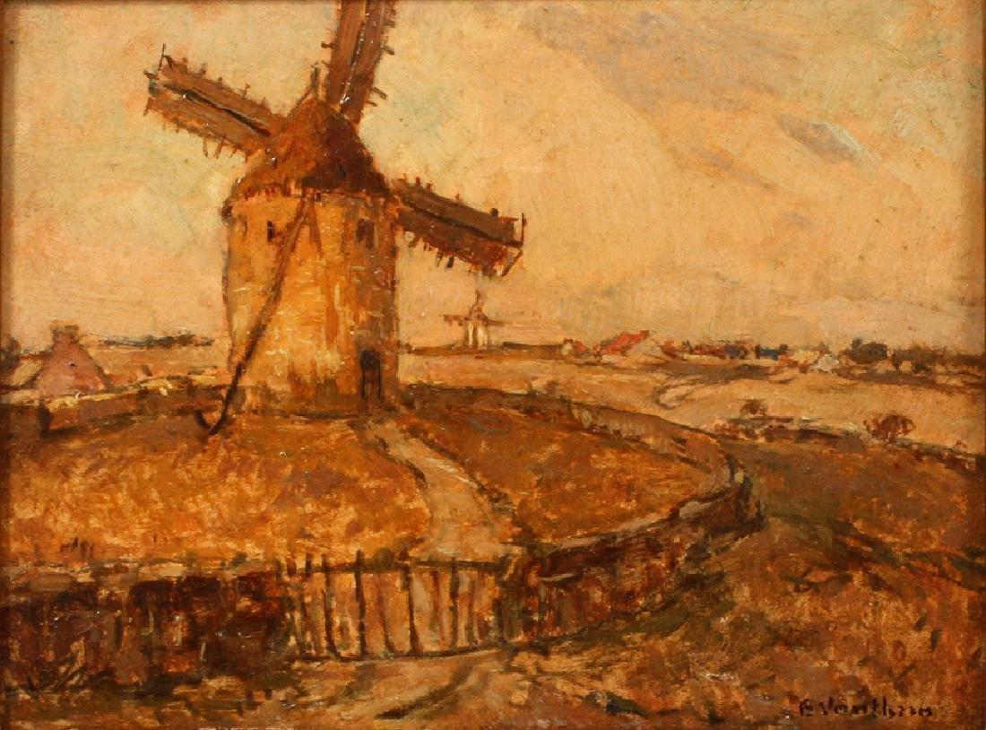 """GERMAIN VAUTHRIN OIL ON BOARD """"LANDSCAPE"""""""
