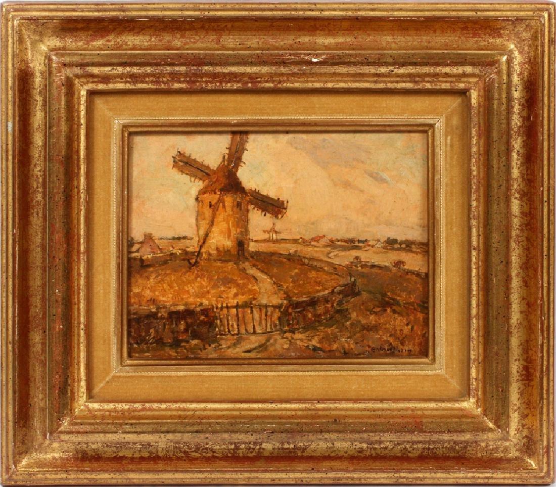 """GERMAIN VAUTHRIN OIL ON BOARD """"LANDSCAPE"""" - 2"""
