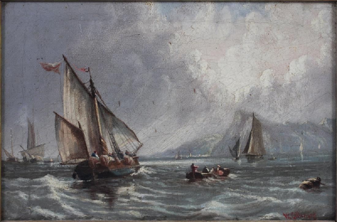 W. GILLMORE OIL ON CANVAS NAUTICAL SCENE - 2