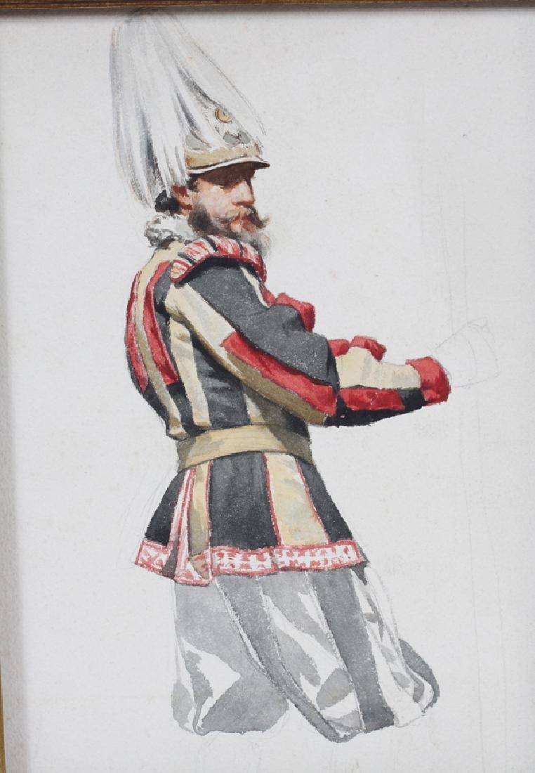 RUBEN WATERCOLOR ON PAPER AUSTRIAN SOLDIER - 2