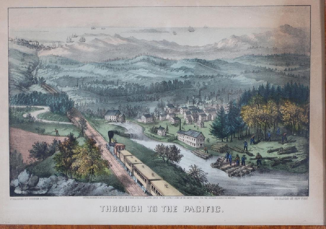 CURRIER AND IVES, LITHOGRAPHS, 3 LANDSCAPES - 2